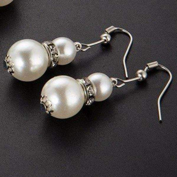 Feshionn IOBI Earrings ON SALE - Ivory Pearl Bead and Crystal Accent Earrings