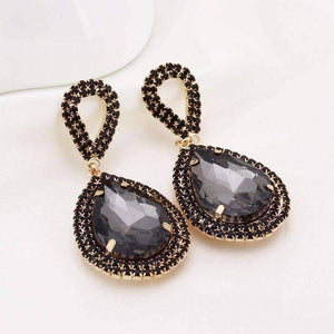 Feshionn IOBI Earrings ON SALE - Midnight Sapphire Blue Double Teardrop Stud Earrings