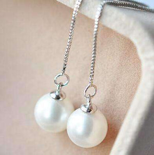 Feshionn IOBI Earrings ON SALE - Naked Pearl Thread Earrings