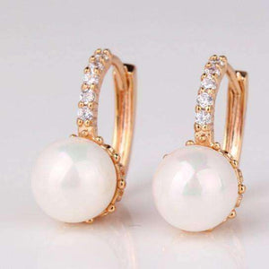 Feshionn IOBI Earrings ON SALE - Pearl Bead Solitaire Hoop Earrings