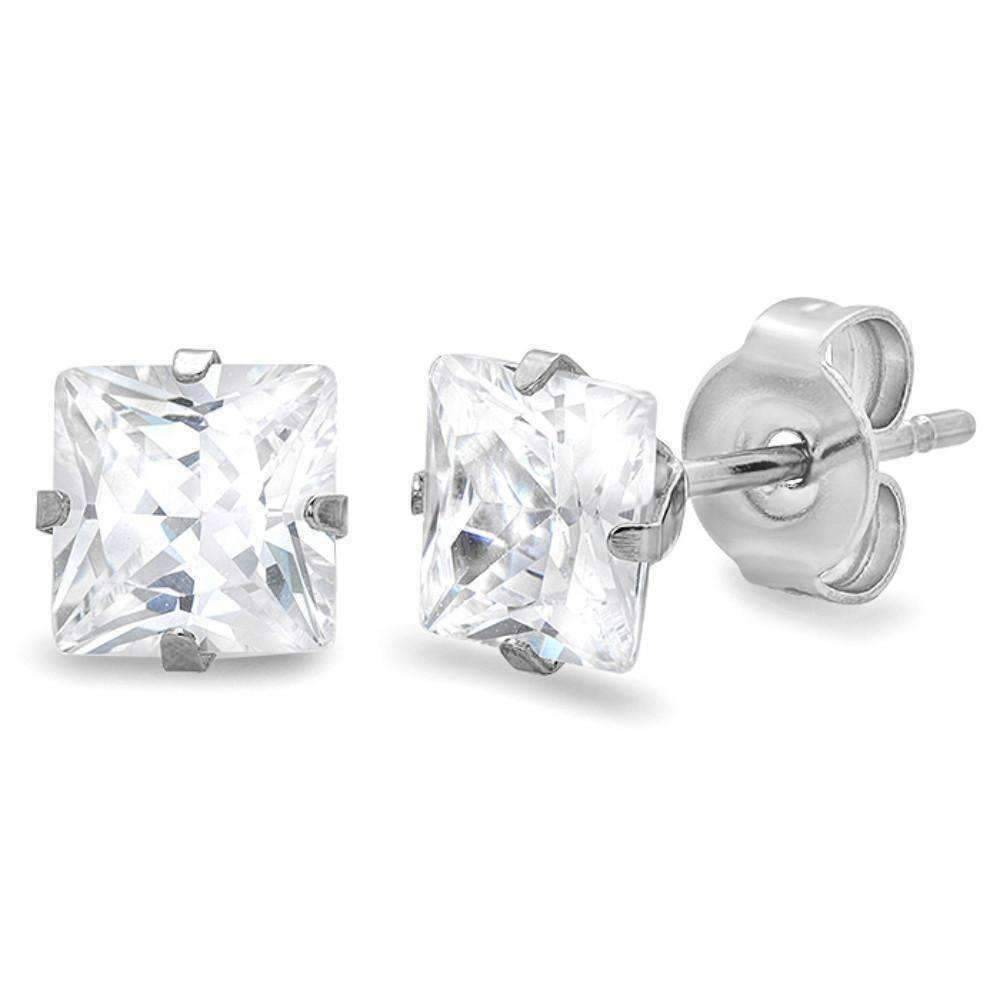 stud cubic sterling jewellery simply silver earring zirconia earrings zoom