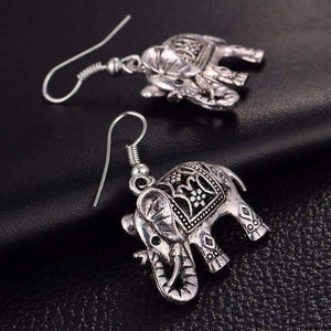 Feshionn IOBI Earrings ON SALE - Sacred Elephant Openwork Dangling Hook Earrings