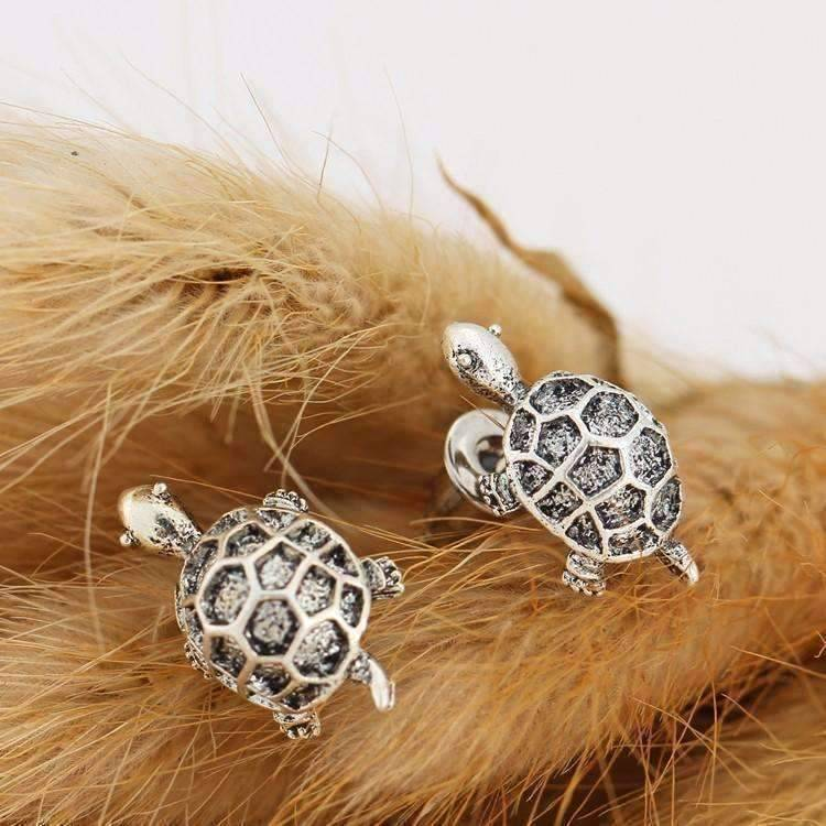 feshionn IOBI Earrings ON SALE - Silvery Shell Tortoise Stud Earrings