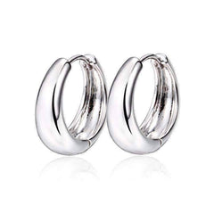 Feshionn IOBI Earrings ON SALE - Smooth Platinum Bold Huggie Hoop Earrings