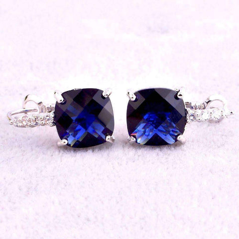 Feshionn IOBI Earrings Pure - IOBI Crystals Royal Blue Color Drop Earrings