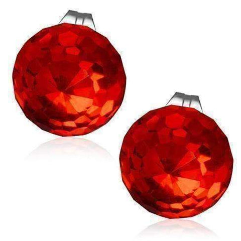 Feshionn IOBI Earrings Red Riot CLEARANCE - Disco Ball Faceted Crystal Stud Earrings - Eight Colors!