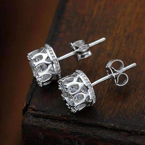 Feshionn IOBI Earrings Royal Crown IOBI Crystals Stud Earrings