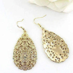 "Feshionn IOBI Earrings Rustic Gold ""Ancient Artifacts"" Drop Earrings in Rustic Gold"