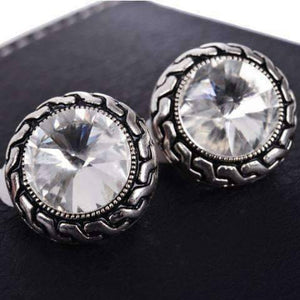 Feshionn IOBI Earrings Shimmering Crystal Clip-On Earrings