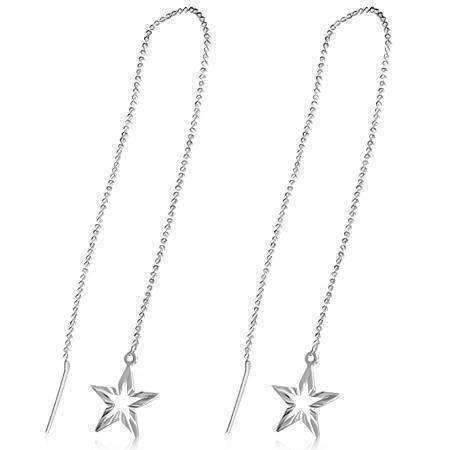 Feshionn IOBI Earrings Silver Edgy Diamond Cut Starburst Silver Thread Earrings