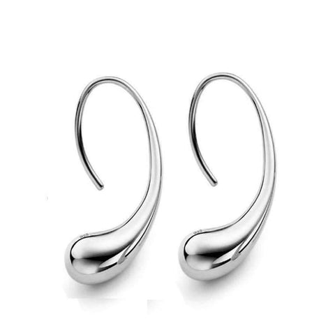 Feshionn IOBI Earrings Silver ON SALE - Chic Tear Drop Silver or Gold Hook Earrings