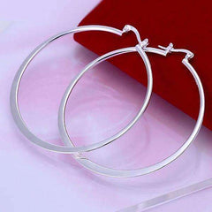 Silver Razor Bold Hoop Earrings