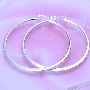 Feshionn IOBI Earrings Silver Silver Razor Bold Hoop Earrings