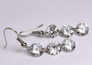 Feshionn IOBI Earrings Silver Trio Naked IOBI Crystals Earrings
