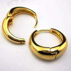 ON SALE - Smooth Rounded Gold Huggie Hoop Earrings