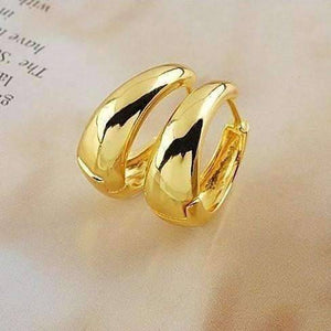 Feshionn IOBI Earrings Yellow Gold ON SALE - Gold Bold Huggie Hoop Earrings