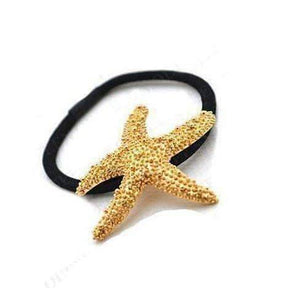 Feshionn IOBI Hair Jewelry gold Gold Starfish Hair Tie