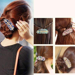 Feshionn IOBI Hair Jewelry Laurel Leaf Gold Hair Barrette 6 Fashionable Colors to Choose!