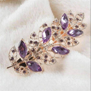 Feshionn IOBI Hair Jewelry Lilac Laurel Leaf Gold Hair Barrette 6 Fashionable Colors to Choose!