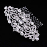 Feshionn IOBI Hair Jewelry Silver Vintage Style Crystal and Filigree Hair Comb