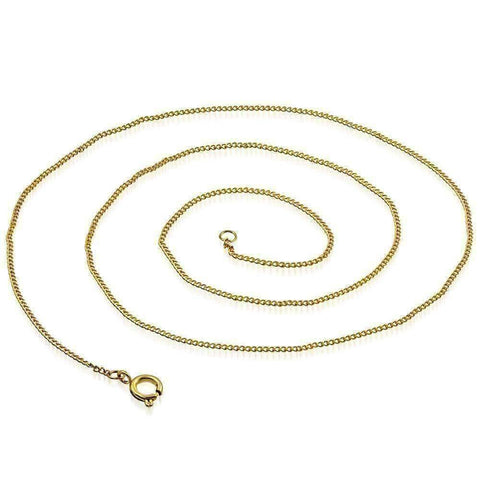 Feshionn IOBI Necklaces 18 inch Fine Round Link 18k Gold Plated 316 Stainless Steel Necklace Chain