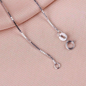 Feshionn IOBI Necklaces 18 inch Sterling Silver Box Chain Necklace