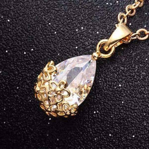 Feshionn IOBI Necklaces 18K Yellow Gold / Standard Infused Diamond Dust Necklace in Platinum or 18K Gold Plating