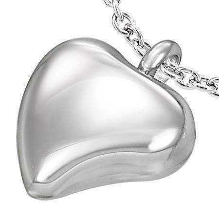 Feshionn IOBI Necklaces Stainless Steel 3D Stainless Steel Bold Heart Necklace