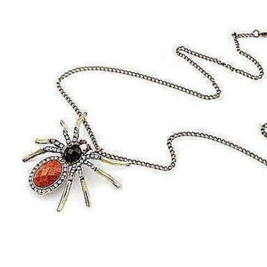 Feshionn IOBI Necklaces Antiquity Large Rhinestone Spider Necklace