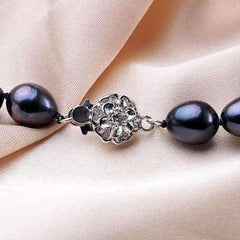 Black Genuine Freshwater Pearl Necklace