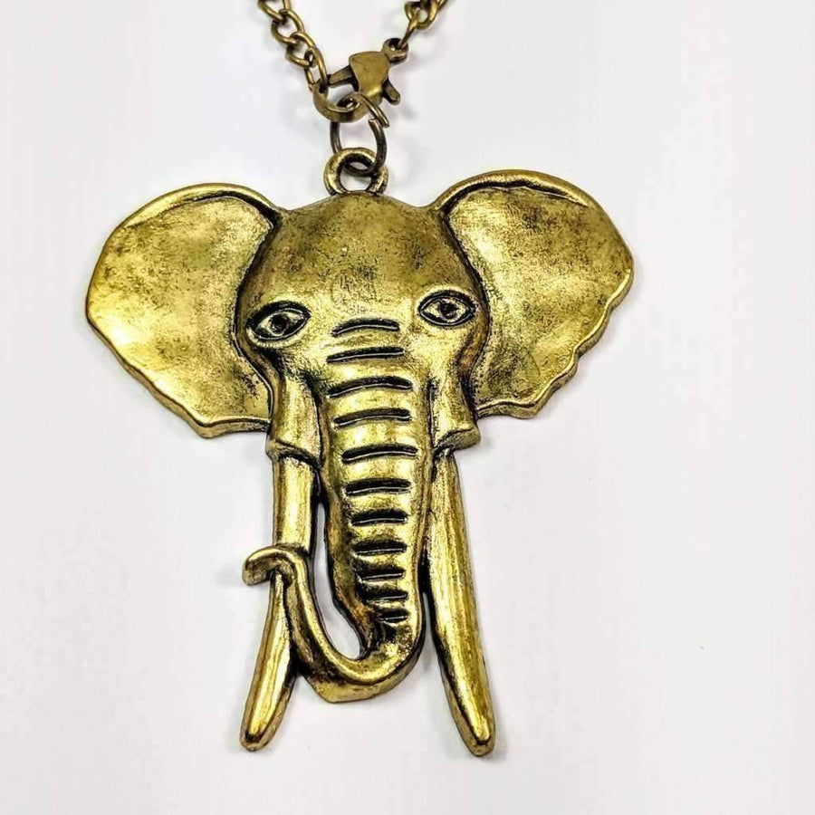 Feshionn IOBI Necklaces Bronze Large Bronzed Elephant Necklace
