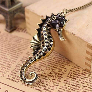 Feshionn IOBI Necklaces Bronze Large Bronzed Seahorse Necklace