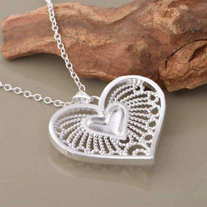Feshionn IOBI Necklaces Bursting With Love Filigree Heart Necklace