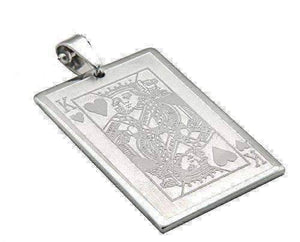 Feshionn IOBI Necklaces Casino Poker Playing Cards Stainless Steel Pendant Necklace ~ Your Choice