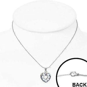 "Feshionn IOBI Necklaces ""Charmed"" Cubic Zirconia Heart Pendant Necklace"
