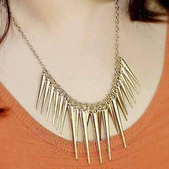 Feshionn IOBI Necklaces Dangling Icicles Necklace in Gold or Silver