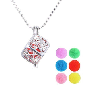 Feshionn IOBI Necklaces Filigree Aromatherapy Scent Diffuser Locket Necklace