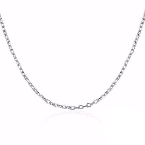 Feshionn IOBI Necklaces Fine Belcher Oval Link Sterling Silver Chain Necklace in 18, 20 or 22 inches