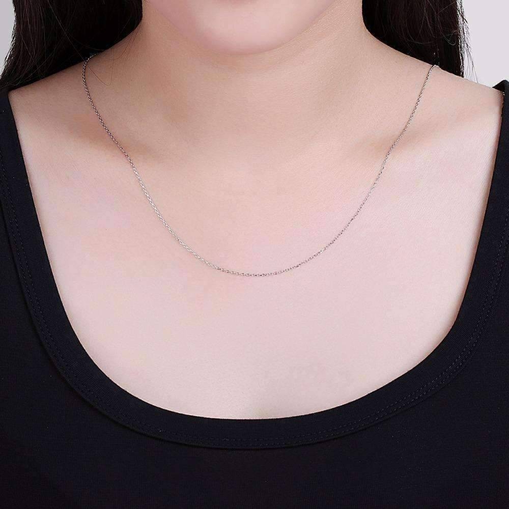 Fine Belcher Oval Link Sterling Silver Chain Necklace in 18 ON SALE 20 or 22