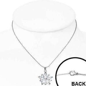 "Feshionn IOBI Necklaces ""Frozen"" Cubic Zirconia Snowflake Pendant Necklace"
