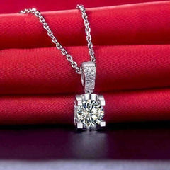 Feshionn IOBI Necklaces Giselle 1CT Tension Set IOBI Cultured Diamond Solitaire Pendant