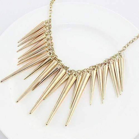 Feshionn IOBI Necklaces Gold Dangling Icicles Necklace in Gold or Silver