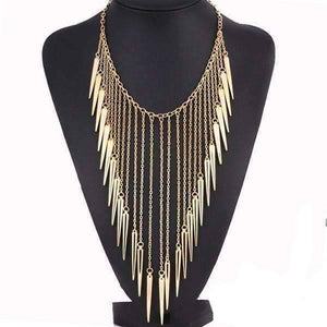 Feshionn IOBI Necklaces Gold Edgy Icicles Necklace