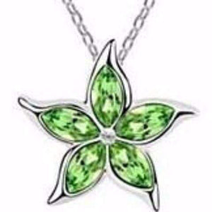 Feshionn IOBI Necklaces Green Starfish Flower Jewel IOBI Crystals Necklace - Choose Your Color