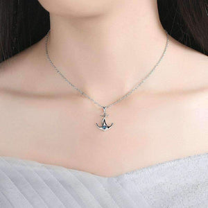 Feshionn IOBI Necklaces Heart Of The Sea Sterling Silver Anchor Necklace
