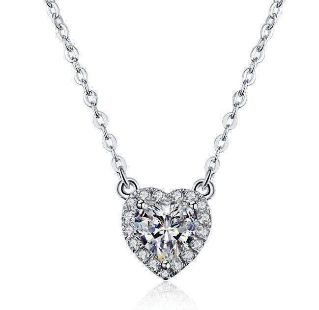 diamond gold white large real solitaire pendant female round enhanced collections bezel products