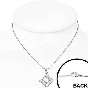 "Feshionn IOBI Necklaces ""Jubilee"" Cubic Zirconia Square Pendant Necklace"