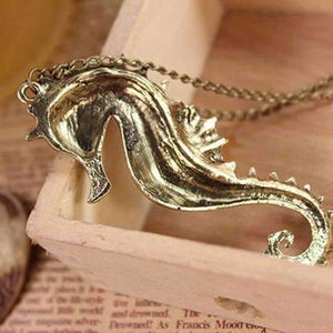 Feshionn IOBI Necklaces Large Bronzed Seahorse Necklace