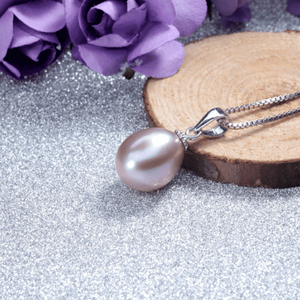 Feshionn IOBI Necklaces Lavender Genuine Freshwater Pearl Drop Necklace