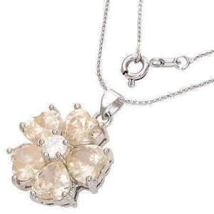 "Feshionn IOBI Necklaces Magnolia ON SALE - ""Buttercup"" Cubic Zirconia Flower Pendant Necklace"